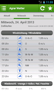Agrar Wetter Schweiz screenshot 2