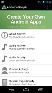Andromo Sample screenshot 0