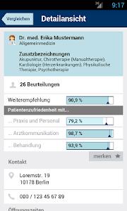 Weisse Liste Arztsuche screenshot 2