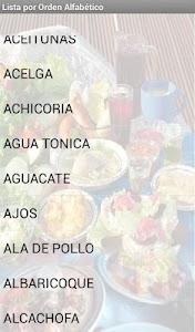 Alimentos screenshot 2