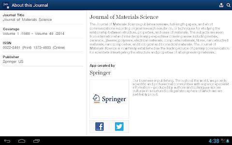 Journal of Material Science screenshot 9