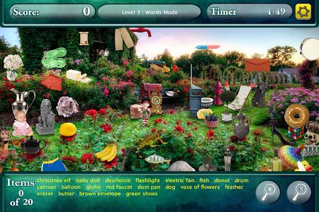Hidden Objects Secret Gardens! screenshot 2