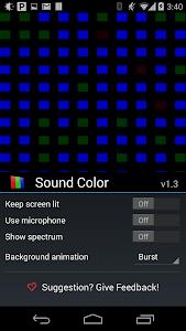 Sound Color Music Visualizer screenshot 1