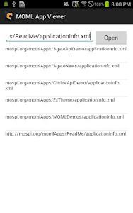 MOML Application Viewer(devel) screenshot 0