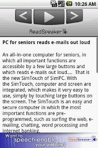 ReadSpeaker audioMobile screenshot 0