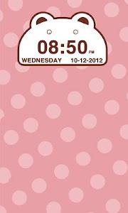 Cute Bear Clock Widget screenshot 2