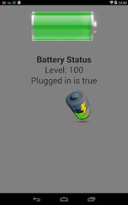 PhoneGapBattery screenshot 2
