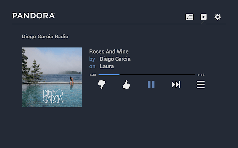 Pandora® Radio for Google TV screenshot 0