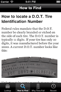 Tire Facts screenshot 2