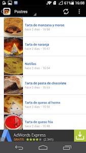 Recetas de cocina screenshot 1