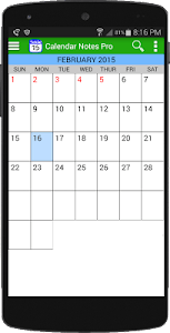 Calendar Notes Free screenshot 0