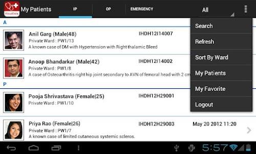 mMR (mobile Medical Records) screenshot 2