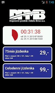 SMS Jízdenka Brno screenshot 1