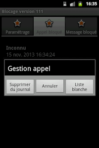 Blocage SMS et Appel screenshot 5