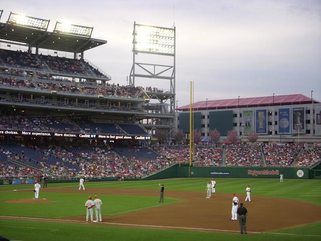 A beautiful evening for baseball