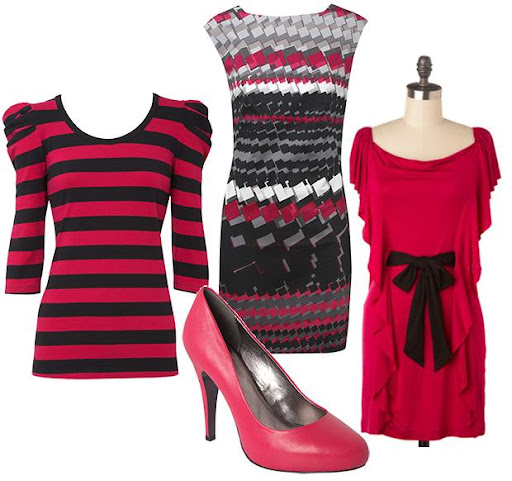 Black and Pink Clothes and Shoes