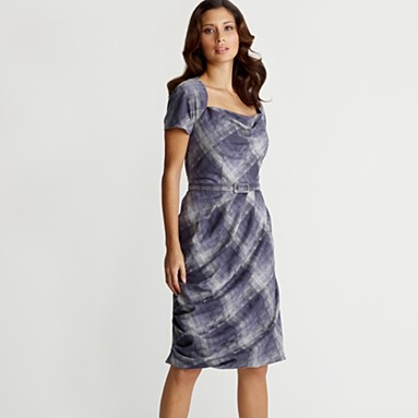 Grey Check Belted Dress by Betty Jackson at Debenhams