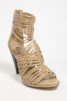 Nude Strappy Weave Gladiator Sandals by Urban Outfitters