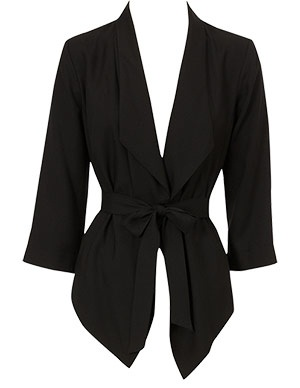 Black Drape Wrap Jacket by Oasis