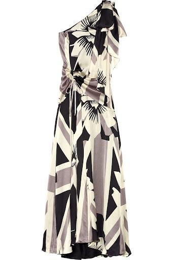 Grey Britannia Flower Silk Dress by Temperley London