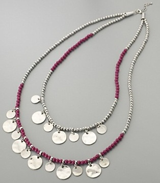 Colour Block Disc Necklace by butterfly by Matthew Williamson at Debenhams