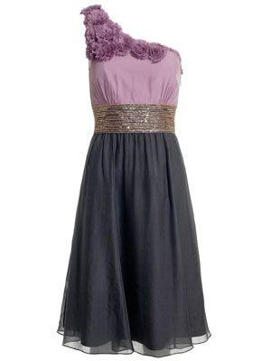 Embellished One Shoulder Dress by Monsoon