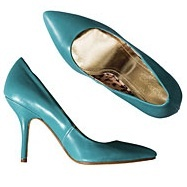 Turquoise court shoes by H&M