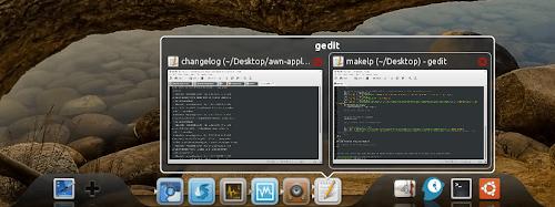 DockBarX 0.41 running in Avant Window Navigator
