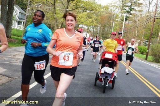 Runners at the Run a Pleasant Mile 5K in Tewksbury, MA