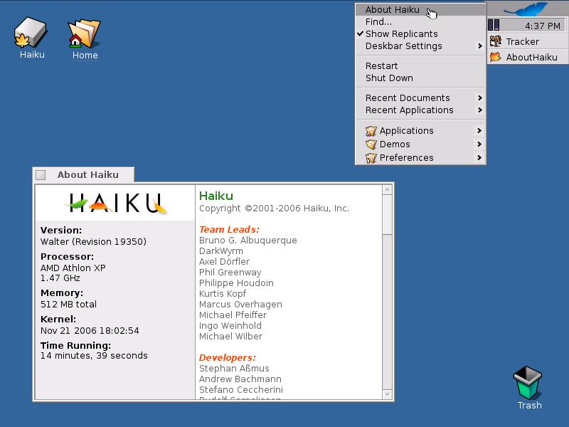 Desktop Haiku OS