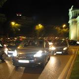 La Puerta de Alcalá llena de coches