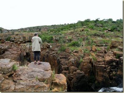 Joan at Potholes Blyde River Canyon Nature Reserve Mpumalanga South Africa
