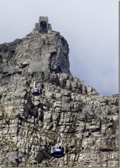 Cableway going up to portal Table Mountain National Park Cape Peninsula South Africa