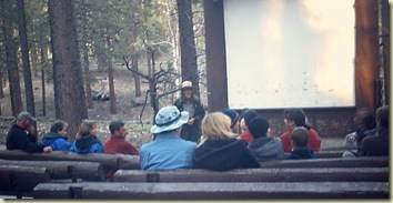 Park Ranger Gaelyn at campfire program North Rim Grand Canyon National Park Arizona