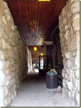 Roughrider saloon hallway entrance Grand Lodge North Rim Grand Canyon National Park Arizona