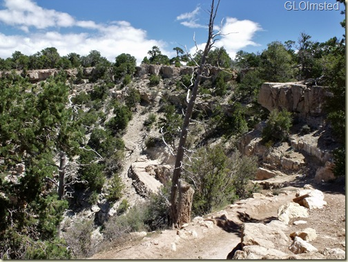 02 S Kaibab trail from trailhead, training, SR GRCA NP AZ
