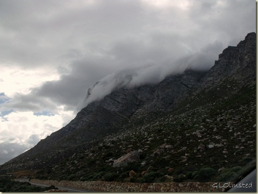 Clouds over mountains R44 North Western Cape South Africa
