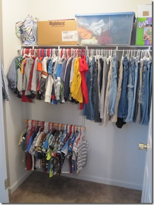 I Have Not Started This In Kaylau0027s Closets Yet But With Isaac I Also Have A  Hanging Sweater Organizer That I Got At Kmart. I Put Underwear, A Pair Of  Socks, ...