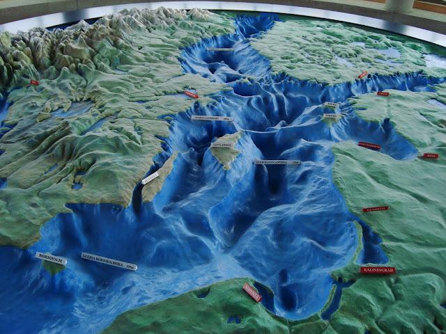 Mapa plastyczna Bałtyku