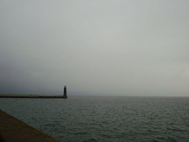 Widok na Zatokę Gdańską z Mola Południowego w Gdyni