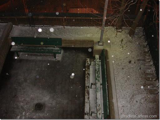 First snow in Manhattan, Winter 2010.