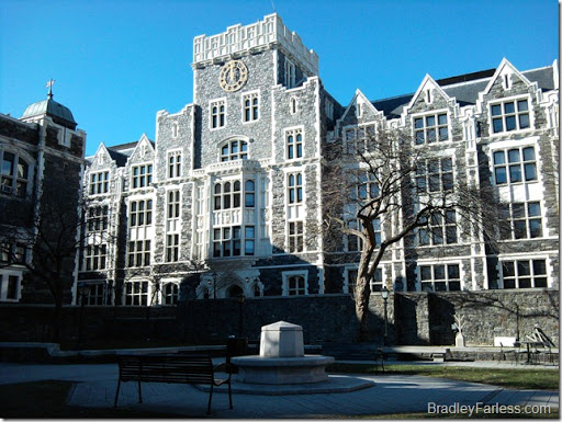 A picture of Townsend Hall at CCNY.