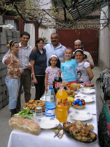 The family of friendly Gypsies and the Easter feast we ate. Lovely people.