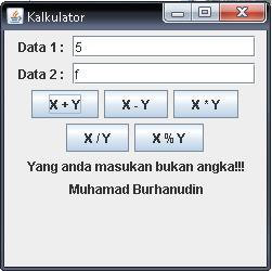 Kalkulator berbasis gui dengan java
