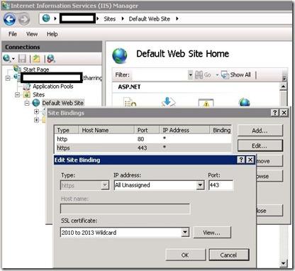 ADFS - IIS - bind - markup