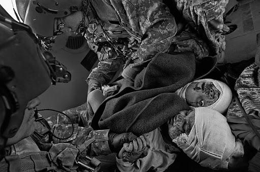 Medevac in Afghanistan -JAMES NACHTWEY FOR TIME