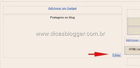 Editar  postagens do blog