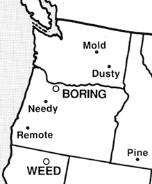 Map Design A Nation Where Boring Oregon Stands Tall The