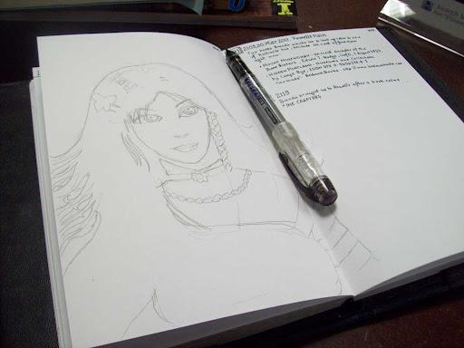 Diary Drawing at Powells