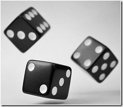 dice in the air